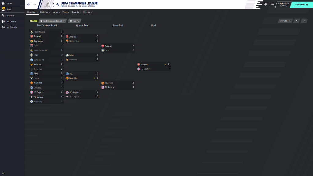2021/22 CL knockout rounds